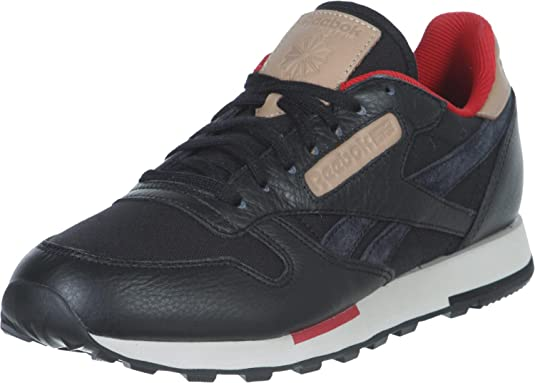reebok classic utility suede trainers in black
