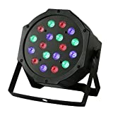 Par Lights With RGB - Full RGB Color Mixing LED Flat Par Can - 18 LEDs Per Light - Red, Green And Blue Color Mixing - Up-Lighting Stage Lighting For DJ Club Party Show Dance Floor Lighting (1pc) (Color: 1pc)