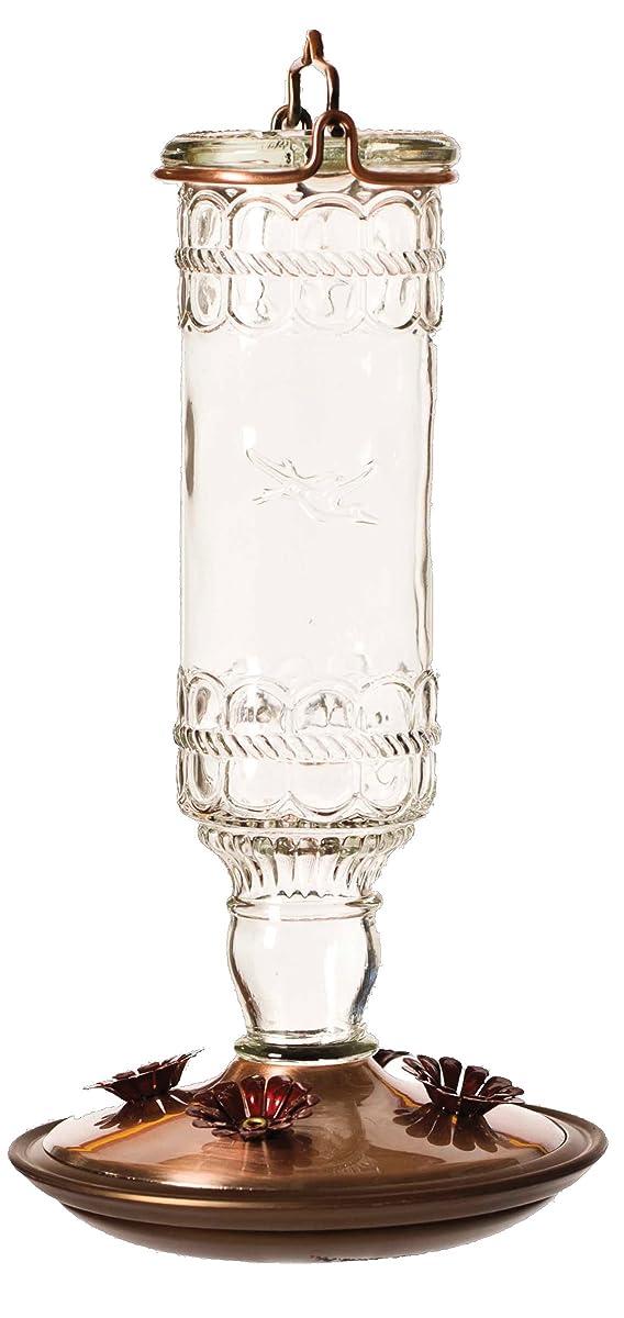 Perky-Pet 8107-2 Antique Bottle 10-Ounce Glass Hummingbird Feeder, Clear