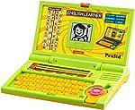 praSid Kids English Learner Computer, Green/Yellow