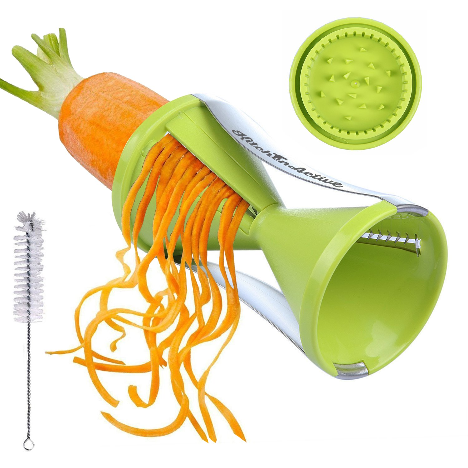 Kitchen Active Spiralizer Spiral Slicer Zucchini Spaghetti Pasta Maker Green
