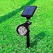 Idealeben� 200 Lumen Solar Powered Outdoor Lighting / LED Spotlight for Garden Pathway (Black, 6500K, 1 pcs)