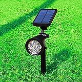 Idealeben LED Solarbetriebene Gartenleuchte Gartenlampe Weiß Wasserdicht mit Erdspieß für
