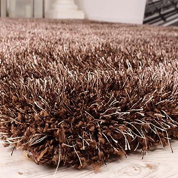 tapis shaggy haut poil long poil l g rement m l en marron dimension shop in usa sdfgfddvc8. Black Bedroom Furniture Sets. Home Design Ideas