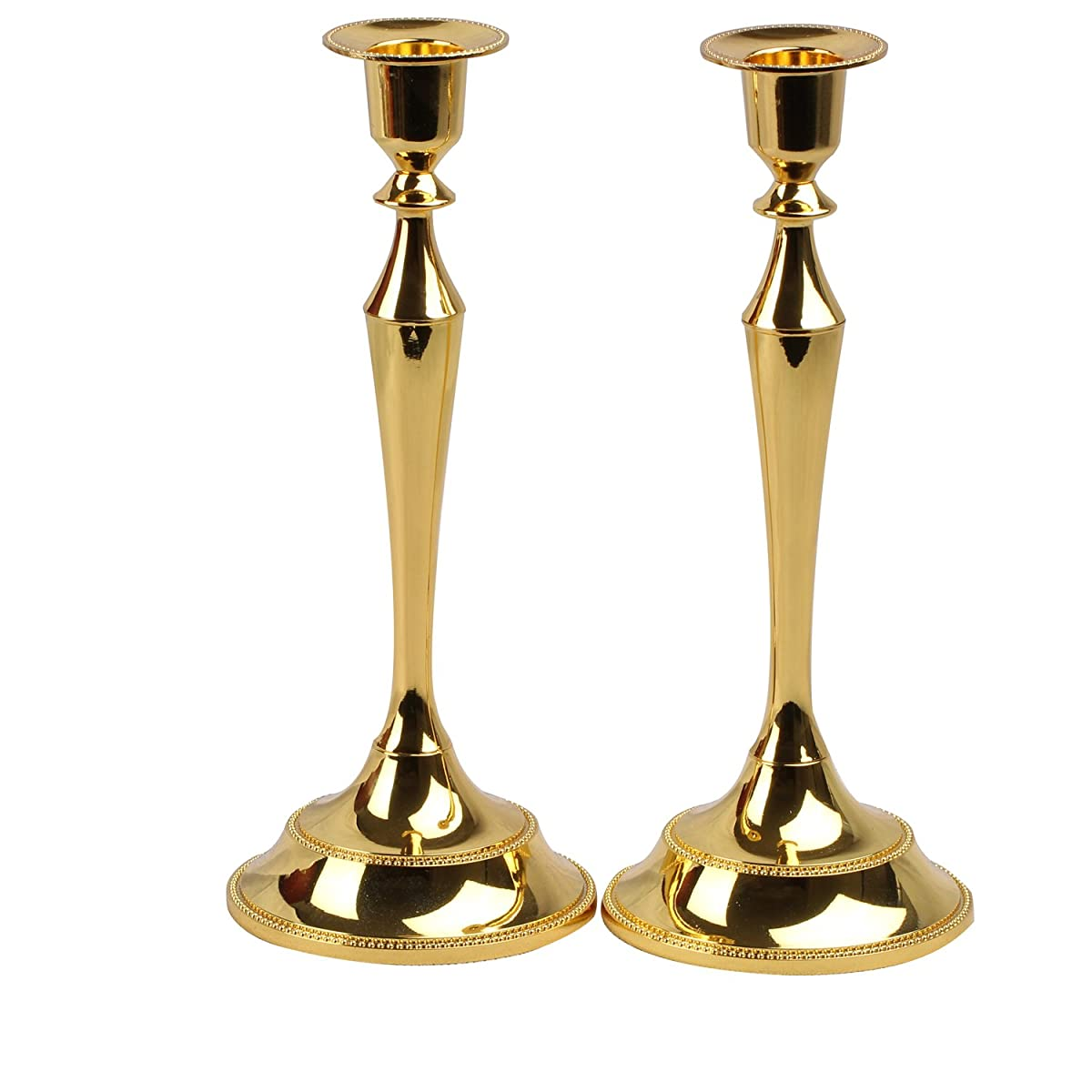 Metal Taper Candle holder,Set of 2 ,Gold