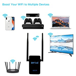 WiFi Extender,Seriud Extender, WiFi Booster WiFi Range Extender Wireless Repeater Internet Extender Wireless Extender Wireless Internet Booster 300Mbp