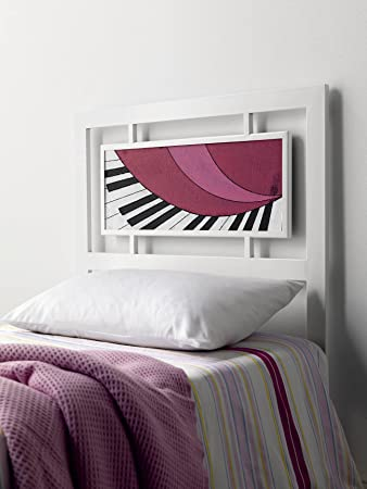 DECOARTESANAL-Cabecero forja Paris Piano,para cama 105cm