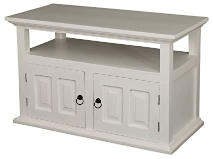 Louisiana 2 Door Entertainment Unit, Wood, White