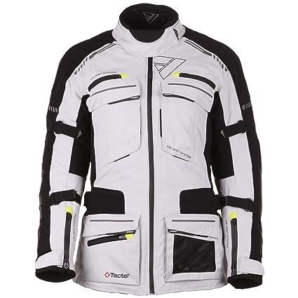 Modeka tACOMA lADY veste textile randonnée pour femme-gris clair