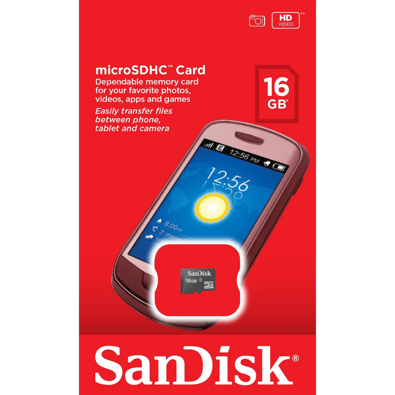 SanDisk 16GB Micro SDHC Memory Card