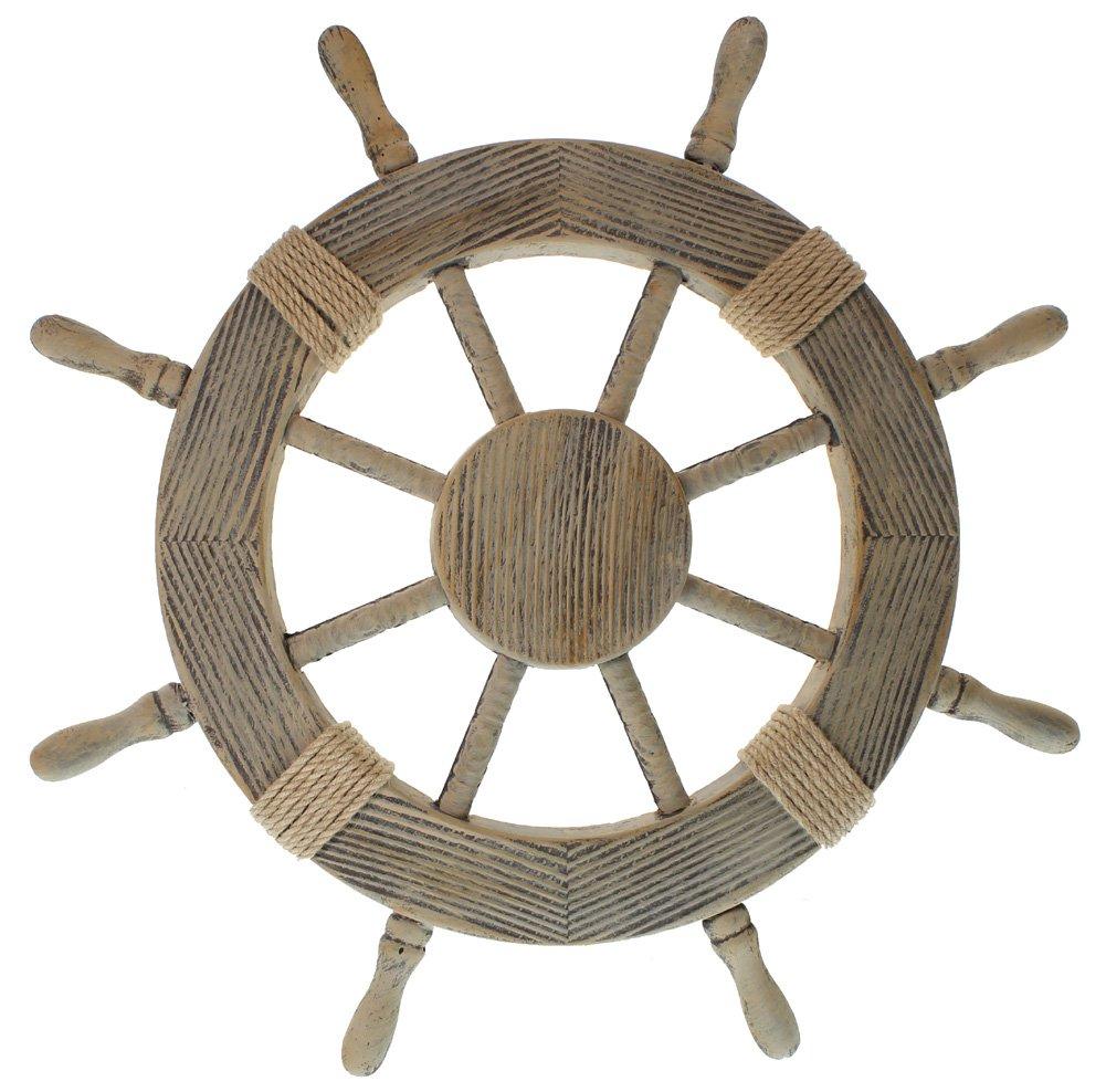 Ship wheels nautical decorations - Nautical rope decorating ideas ...