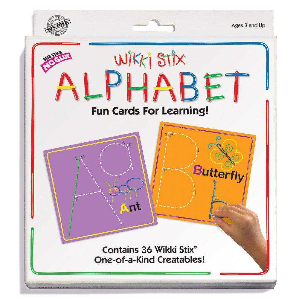 Wikki Stix Alphabet Fun Cards for Learning