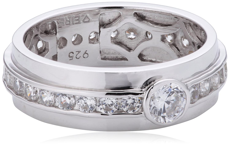 Diamonfire Damen-Ring Classic 925 Silber rhodiniert Brillantschliff weiß Zirkonia 61/1272/1/082 günstig bestellen