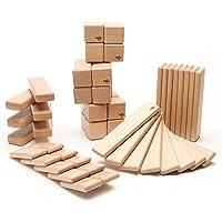 52-Piece Tegu Original Magnetic Wooden Block Set (Natural)