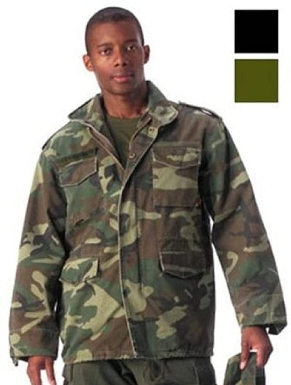 Woodland Camouflage Military Vintage M-65 Field Jacket 0