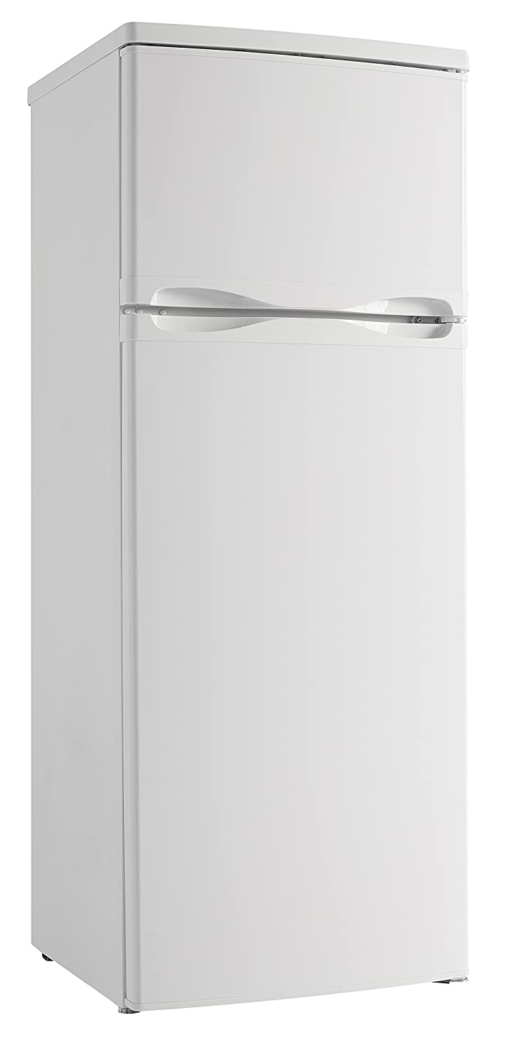 Designer 7.3 Cu. Ft. Refrigerator with Top-Mount Freezer, White