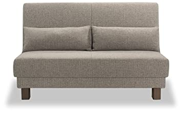 Sofá cama Enzo, tamaño mediano, 140 cm, piel sintética