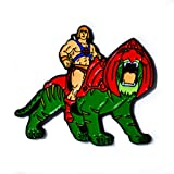 He-Man Battle Cat Masters of The Universe Collectible Pendant Lapel Hat Pin (Color: White, Tamaño: 1.5