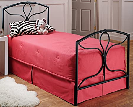Hillsdale Furniture 241BFR Morgan Bed Set with Rails, Full, Textured Black