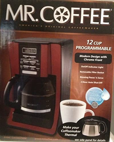 Mr. Coffee 12 Cup Programmable Modern Design withg Chrome Front Coffeemaker