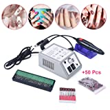 Electric Nail Art Drill Machine, 2 Boxes Grinding Head Manicure Pedicure Grinding Drill, Low Noise Nail Toe Care Polishing Machine Kit