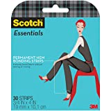 Scotch Essentials Permanent Hem Bonding Strips, 30 Strips (W-107-A)