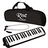 Rise by Sawtooth ST-RISE-MEL-37-BLK Piano Style Melodica, Black (Color: Black, Tamaño: 37 Keys)