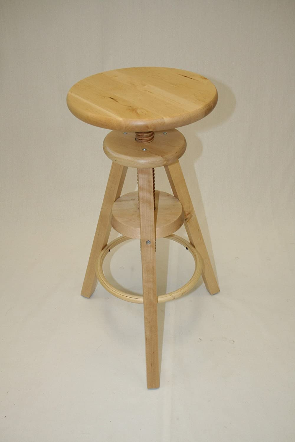 adjustable wood stool