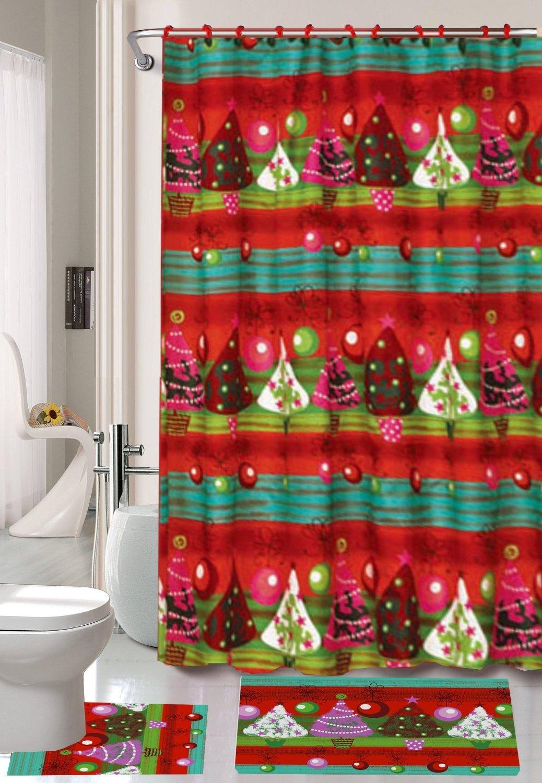 Christmas Trees Shower Curtains | Christmas Wikii