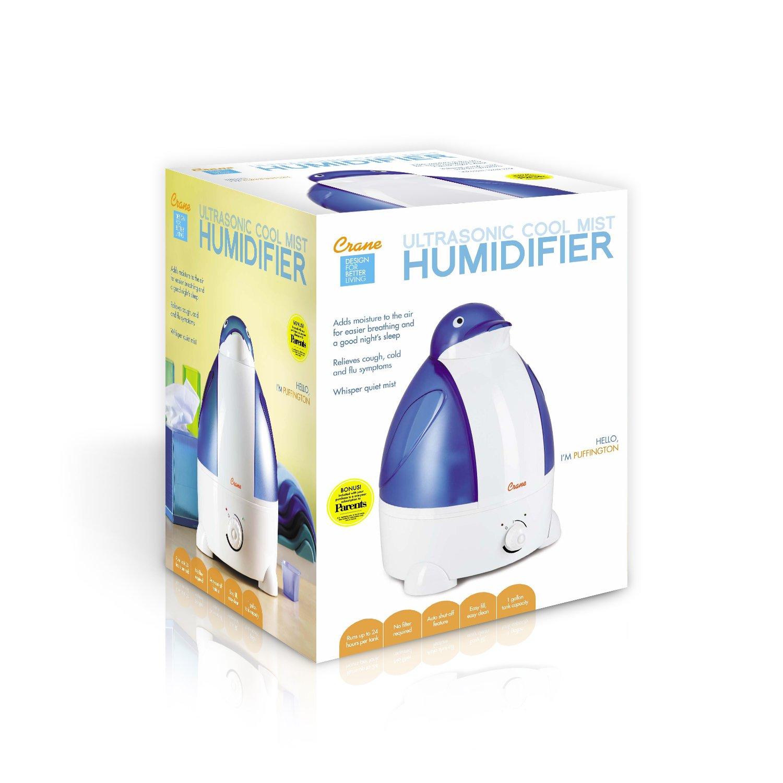 Crane Adorable Ultrasonic Cool Mist Humidifier with 2.1 Gallon Output  #AD731E