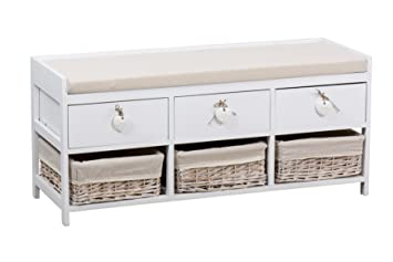 Mueble, Madera, Crema, 100x35x45 cm