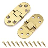 OwnMy Solid Brass Hinge, Drop Front Desk Drawer Butt Hinge for Table Sewing Machine,Doors and Folding Table with Screws (180 Degree - 2 PCS) (Color: 180 Degree - 2 PCS)