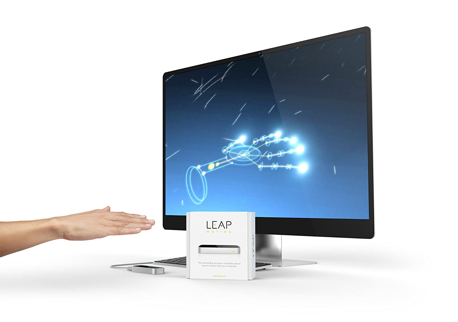 (小降)3D体感控制器 kinect的200倍精度 Leap Motion Controller for Mac or PC