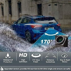 Rear Reversing Backup Camera Rearview License Plate Camera Night Vision Ip68 Waterproof for Mazda CX-5 CX-7 CX-9 Mazda 3 Mazda 6