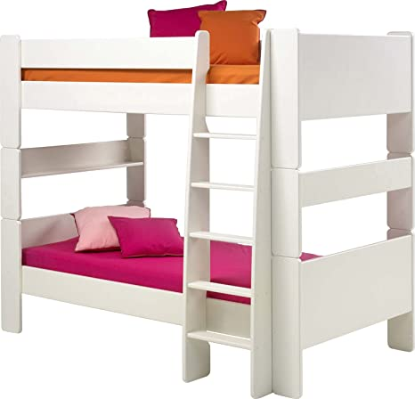 Steens Kids Bunk Bed with Ladder, White