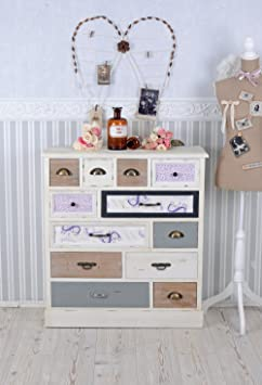 Vintage Chest of Drawers 12 Drawers Colourful Cabinet Shabby Chic Palazzo Exclusive