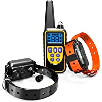 2-Pack F-color Waterproof and Rechargeable Dog Shock Collar