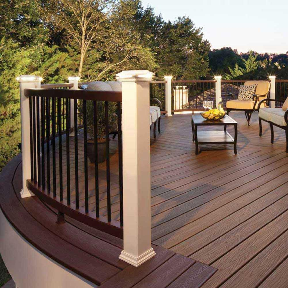 Must Watch 30 Stunning Deck Lighting Ideas: Amazon.com: LED Post Cap Light- Square Style, Classic