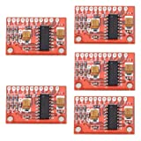 Alloet New 5 Pcs Mini Digital 3W x 2 Audio Amplifier Board USB DC 5V Power Supply