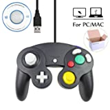 Mekela 5.8 feet Classic USB Wired NGC Controller Gamepad resembles Gamecube for Windows PC MAC (USB Black) (Color: USB Black)