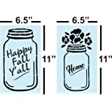 Mason Jar, Stencil For Painting Signs, Fall & Autumn, Reusable