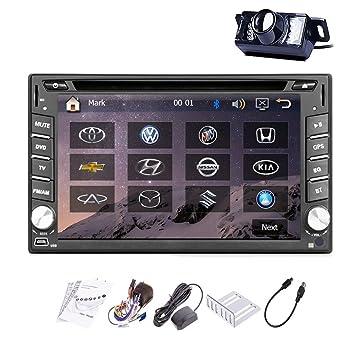"""Tableau de bord de GPS récepteur AV à 6,2 """"WVGA capacitif pour écran tactile pour Voiture Autoradio DVD GPS Autoradio stéréo Lecteur vidéo Headunit appareil photo"""
