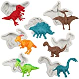 Funshowcase Dinosaur Fondant Silicone Molds 7-Count (Color: Dino Molds 7-count)