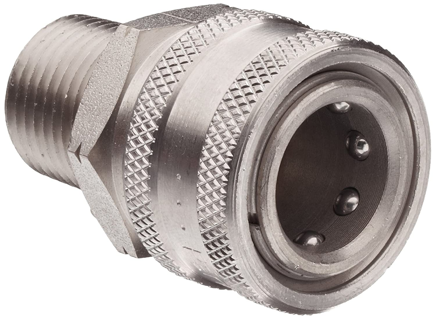 Dixon STMC4SS Stainless Steel 303 Hydraulic Quick-Connect Fitting, Coupler, 1/2 Male Coupling, 1/2-14 Straight Thread sy7220 5lze 02 smc solenoid valve electromagnetic valve pneumatic component air tools sy7000 series