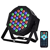 Eyourlife Par Light 36W LED RGB DMX512 Stage Lighting DJ Lights Party Light Sound Activated Stage Lights with Remote Control for Club Bar Events Home Wedding Party Lighting (Color: Black, Tamaño: 36W LED RGB Par Lights)