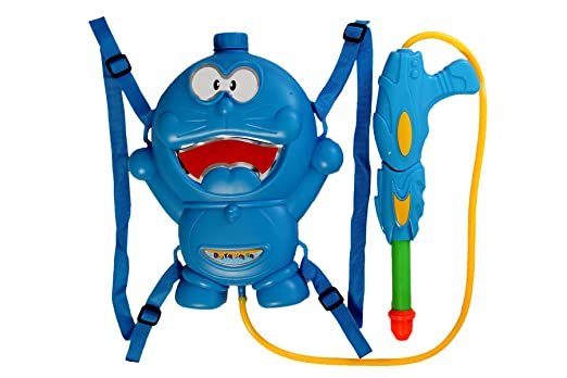 Sunshine Holi Water Gun with Pressure with Back Holding Tank (1.75 L) - Blue