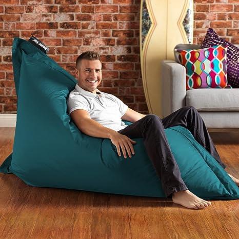 BAZAAR BAG - puf de Martín pescador azul - uso en interiores y exteriores - MASSIVE 180 x 140 cm - ideal para uso en interiores y Garden