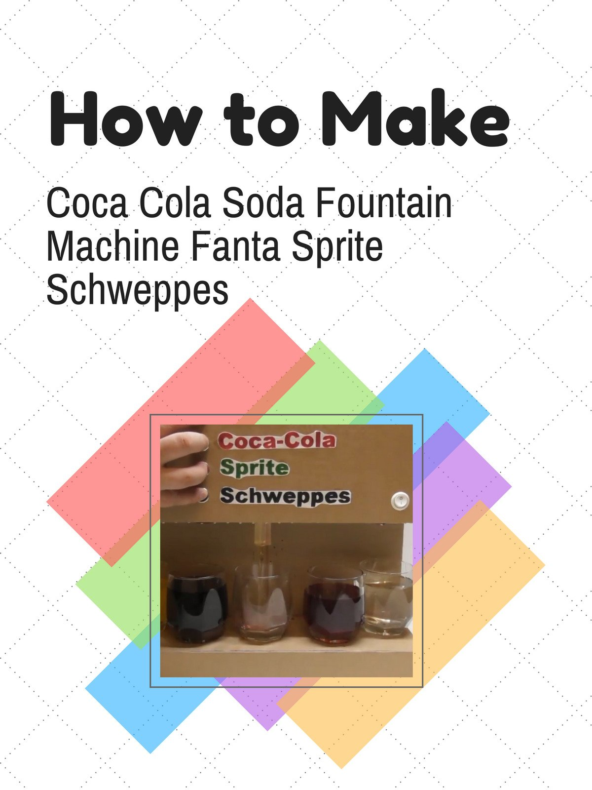 How to Make Coca Cola Soda Fountain Machine Fanta Sprite Schweppes