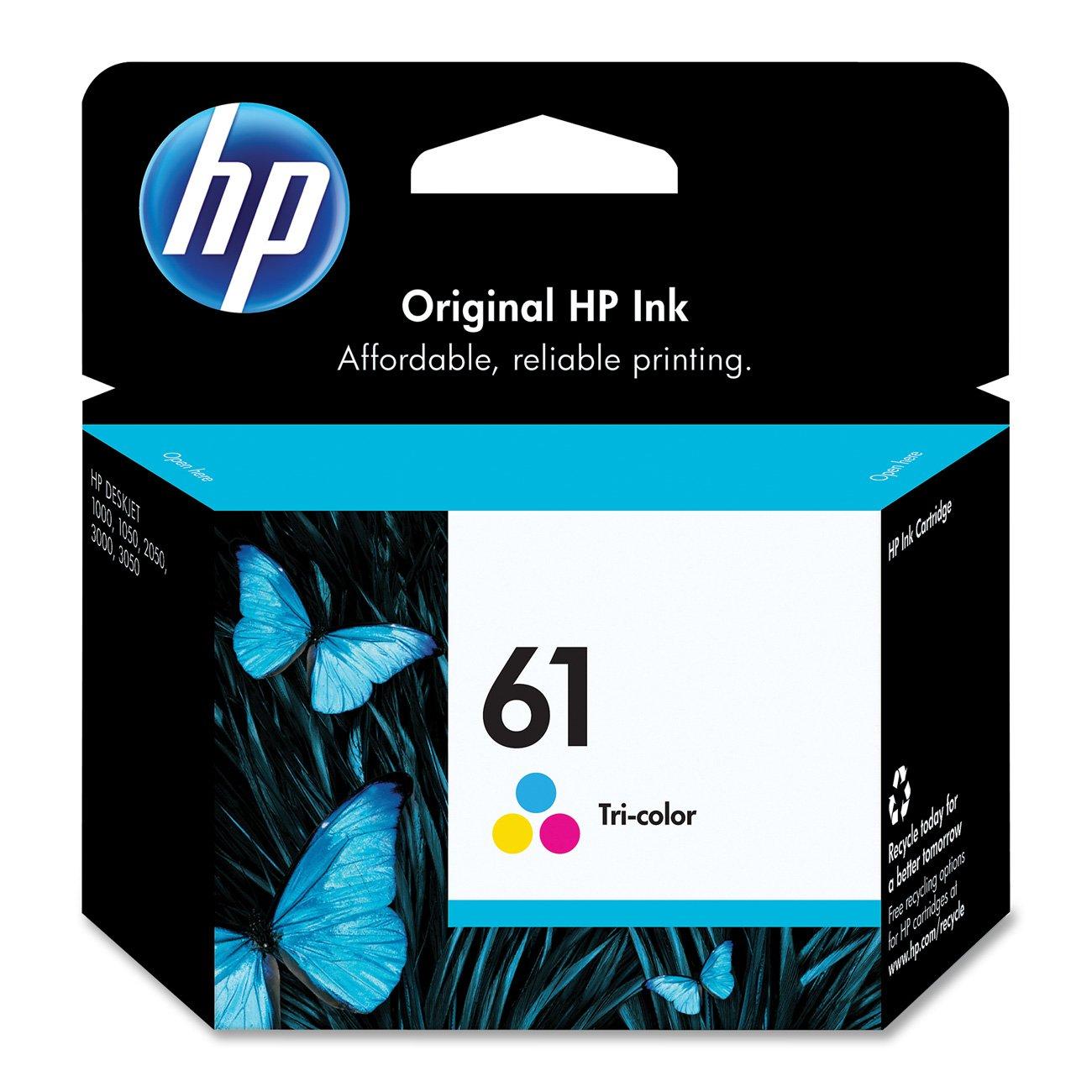 HP 61 Tri-color Ink Cartridge (CH562WN)
