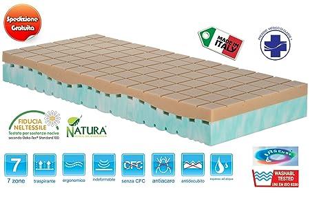 Matratze Einzelbett 90x 200abnehmbar hoch 22cm Typ natur mit Medizinprodukt Klasse 1